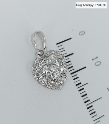 Кулон Серце з камінцями  220020 фото
