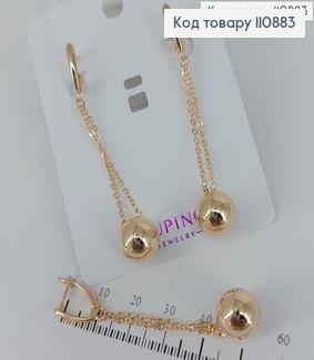 Сережки підвіски з кулею медичне золото Xuping 110883 фото