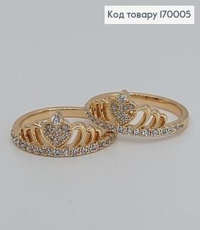 Перстень Корона з камінцями медичне золото Xuping 170005 фото