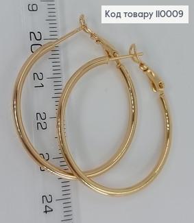 Сережки кільця 110009 фото