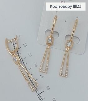 Сережки з камінцями  медичне золото Xuping 111123 фото