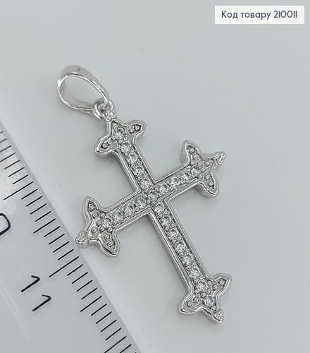 Хрестик з камнями 2,5*2см 210011 фото