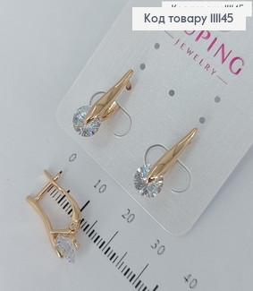 Сережки з камінцями  медичне золото Xuping 111145 фото