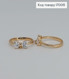 Перстень Дитячий Метелик з камінцями медичне золото Xuping (розмір 14,15) 170015 фото