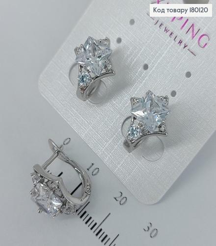 Сережки з камінцями  медичне золото Xuping 180120 фото