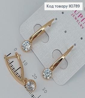 Сережки з камінцями  медичне золото Xuping 110789 фото