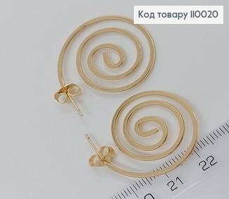 Сережки  закручені кільця 110020 фото