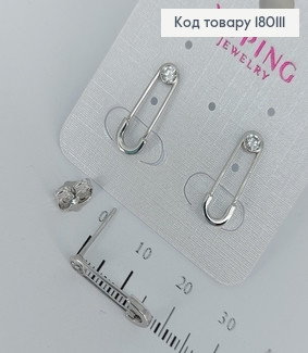 Сережки гвіздки Шпилька  медичне золото Xuping 180111 фото