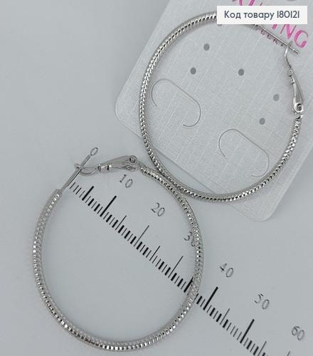 Сережки кільця 4см 180121 фото