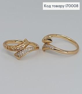 Перстень Оригінальність з камінцями медичне золото Xuping 170008 фото