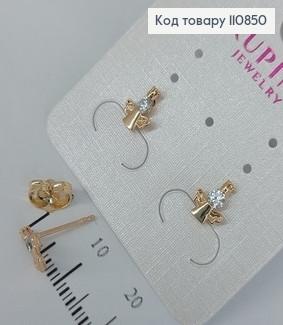 Сережки гвіздки Ангел з камінцями  медичне золото Xuping 110850 фото