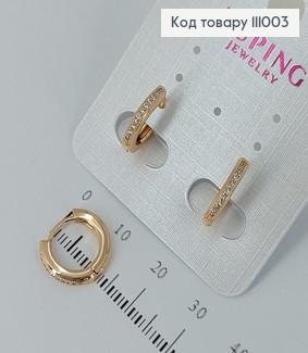 Сережки кільця з камінцями  медичне золото Xuping 111003 фото