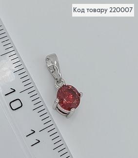 Кулон з червоним камнем 220007 фото