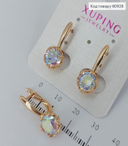"""Сережки з камінцем  """"Svarovskyмедичне золото Xuping 110928 фото"""