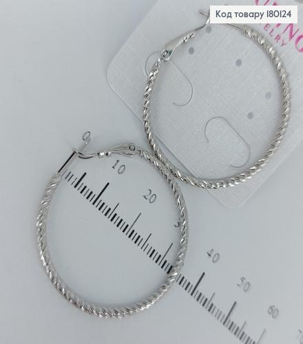 Сережки кільця 3,5см 180124 фото