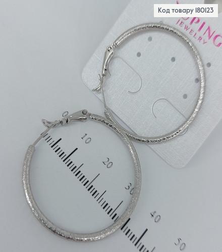 Сережки кільця 3,5см 180123 фото