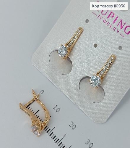 Сережки з камінцями  медичне золото Xuping 110936 фото