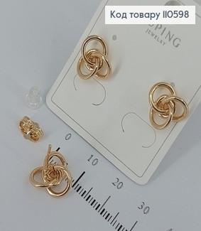 Сережки гвіздки   медичне золото Xuping 110598 фото
