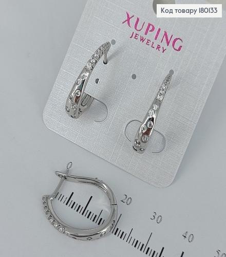 Сережки з камінцями  медичне золото Xuping 180133 фото