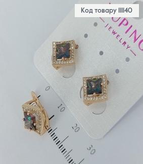 Сережки з камінцями  Хамелеон медичне золото Xuping 111140 фото
