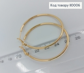 Сережки кільця 110006 фото