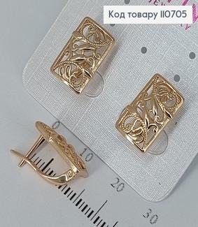 Сережки   медичне золото Xuping 110705 фото