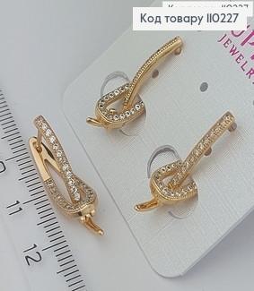 Сережки медичне золото 110227 фото