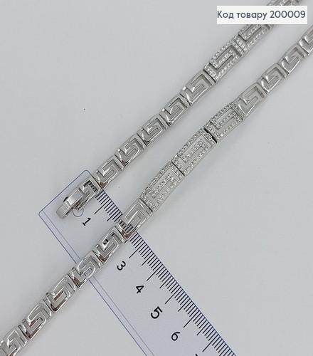 Браслет платинки Версаче з камінцями 17+1см 200009 фото