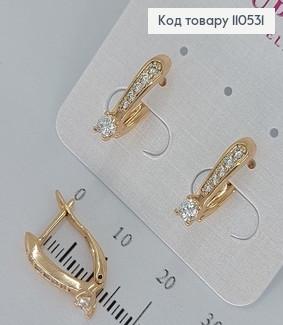 Сережки з камінцями  медичне золото Xuping 110531 фото