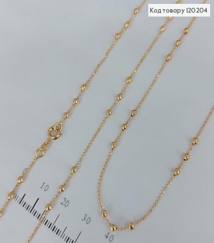 Ланцюжок  з бульками медичне золото Xuping 45см 120204 фото