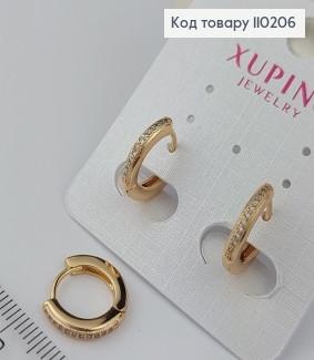 Сережки кільця 110206 фото