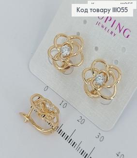 Сережки Квіточка  медичне золото Xuping 111055 фото