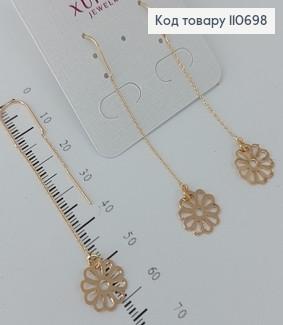 Сережки протяжки   медичне золото Xuping 110698 фото
