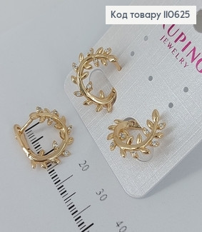 Серьги Лавровый веночек медицинское золото Xuping 110625 фото