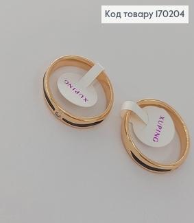 Перстень з камнем  та чорною вставкою  медичне золото 18К  Xuping 170204 фото
