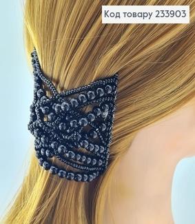 Заколка Монтера для волосся чорна  233903 фото