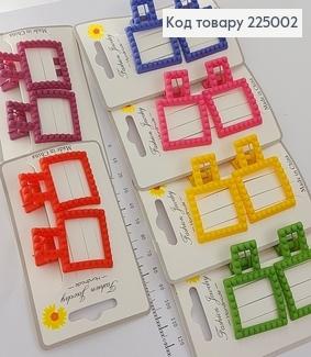 Заколка каучук квадрат оригинальная в асс. 2 шт / уп. 225002 фото