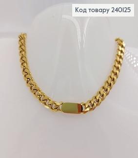 Ланцюжок 7 мм, довжина  40+5см   медичне золото Stainless Steel 240125 фото