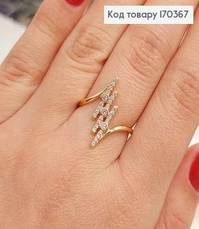 Кольцо Молния с камнями медицинское золото 18К Xuping 170367 фото