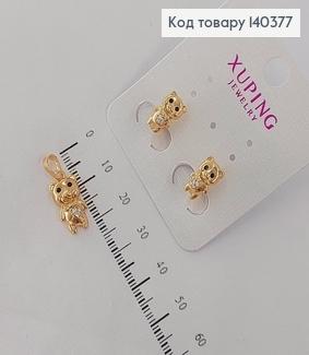 Набір сережки та кулон  з камінцями Ведмедики Xuping 18K 140377 фото