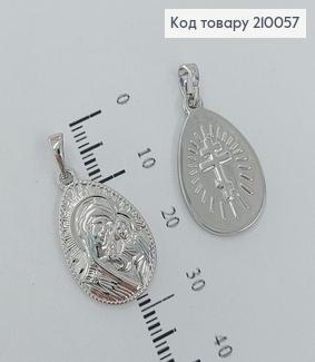 Іконка Божа Мати 1,4*2 см родіроване   медзолото Xuping  210057 фото