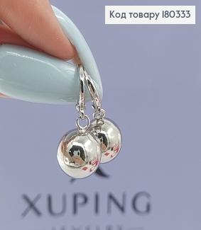 Сережки кільця з бусинкою родоване медзолото Xuping 180333 фото