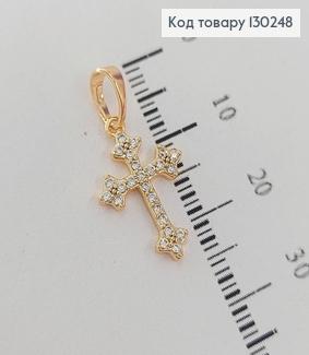 Хрестик 1,2 х2см з камінцями медзолото Xuping 18K 130248 фото