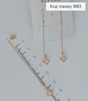 Сережки підвіски Планета з камінцями  медичне золото Xuping 111183 фото