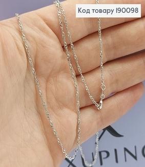 Ланцюжок родірований 35см медичне золото  Xuping 190098 фото