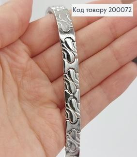 Браслет родірований  19см  медзолото Xuping 200072 фото