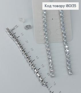 Сережки гвіздки з камінцями  медичне золото Xuping 180135 фото