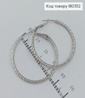 Сережки кільця 3,5см родоване медзолото Xuping 180352 фото