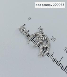 Кулон фея с камушком родированное    медицинское золото 18К Xuping 220063 фото
