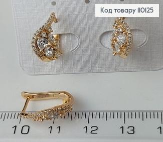 Сережки медичне золото Xuping 110125 фото